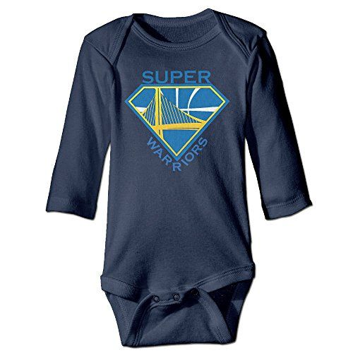 ElishaJ Golden State Super Logo Babys Unisex Long Sleeve Bodysuit Outfits Navy Size 12 Months -- Read review @