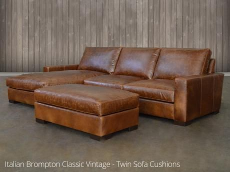 Gallery Direct Humber Vintage Brown Leather 2 Seater Sofa
