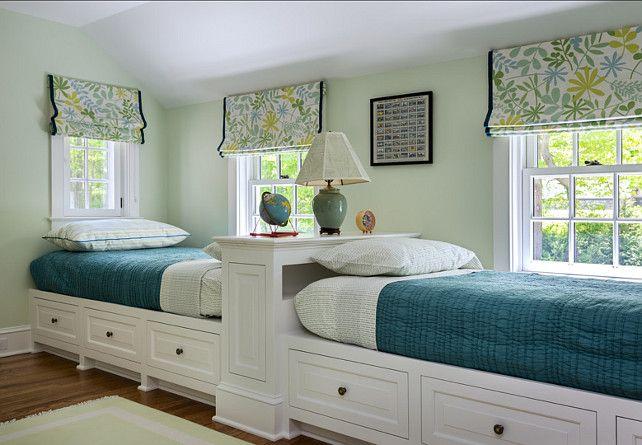 "Guest Bedroom Ideas #Guest #Bedroom Paint Color: ""Spring Valley 438 by Benjamin Moore"