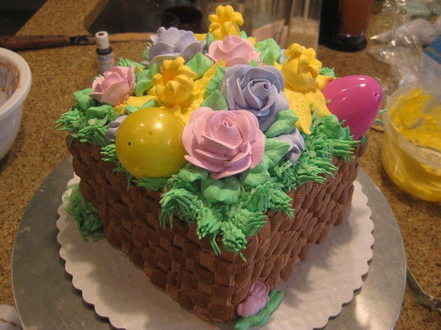 Easter Basket With Images Easter Basket Cake Cake Easter