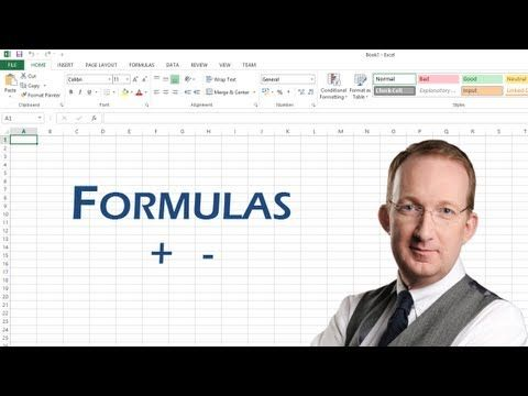 Excel Formulas for Sum, Average, Max and Min - YouTube tips