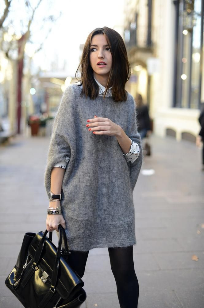 07 how to wear oversized sweaters dress | Super dope looks ...