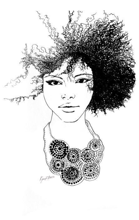 Afro Hair Art Dibujos De Peinados Figurines De Moda Dibujos