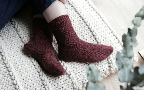 A Perfect Christmas Cast.The Perfect Christmas Eve Cast On The Bronte Socks Pattern