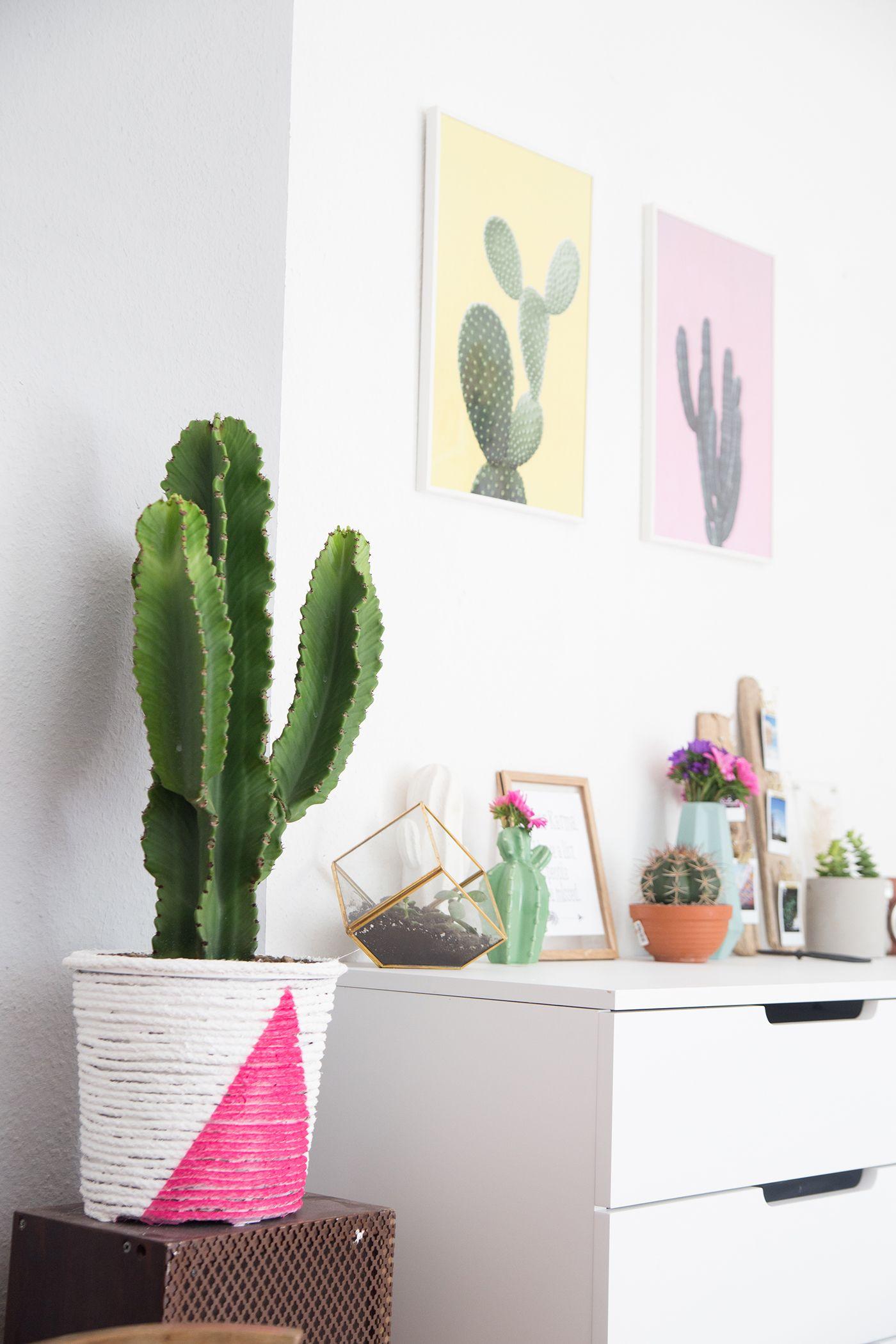Kreative DIY Upcycling Idee zum Nachbasteln: Boho-Pflanztopf einfach aus einem Seil selbermachen | mit Step by Step Anleitung