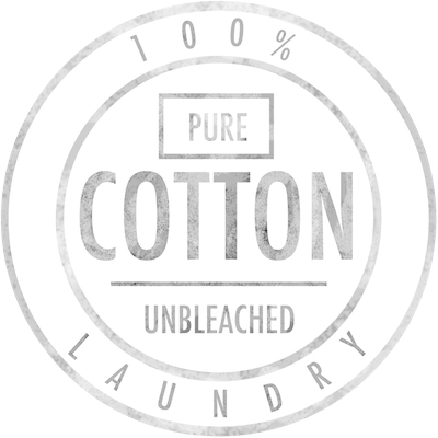 Vintage 100 Pure Cotton Unbleached Logo Laundry Typography Stamp French