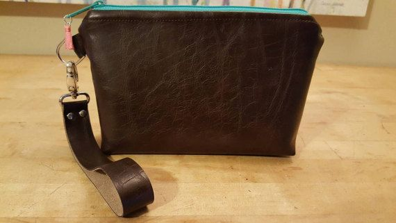 Leather wristlet clutch purse Check out this item in my Etsy shop https://www.etsy.com/listing/508252107/beautiful-leather-wristletclutch