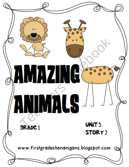 Journeys Literacy Activities Amazing Animals Grade 1 Product