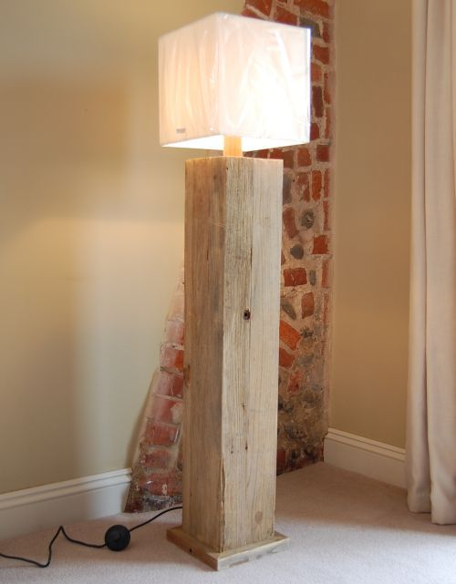 buy a reclaimed wooden floor lamp from wowpieces your first u0026 last stop for home