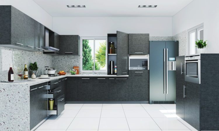 Find Cool L Shaped Kitchen Design For Your Home Now Modern Kitchen Cabinet Design Kitchen Design Trends Kitchen Design Color