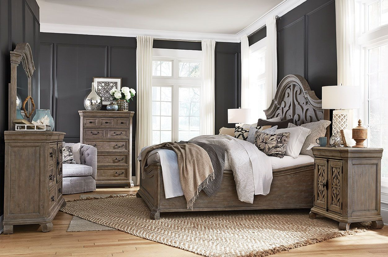Tinley Park Shaped Panel Bedroom Set in 2019 | Bedroom by ...