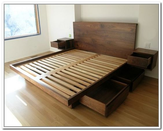 California King Storage Bed Frame Woodworking In 2019 Diy Bed