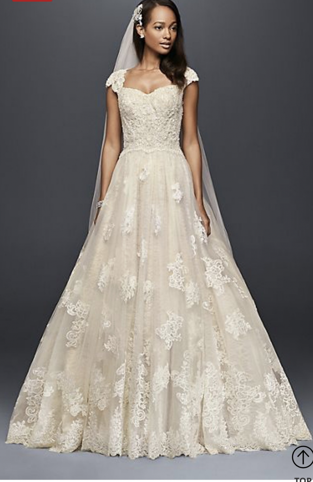 Oleg cassini cwg size new unaltered wedding