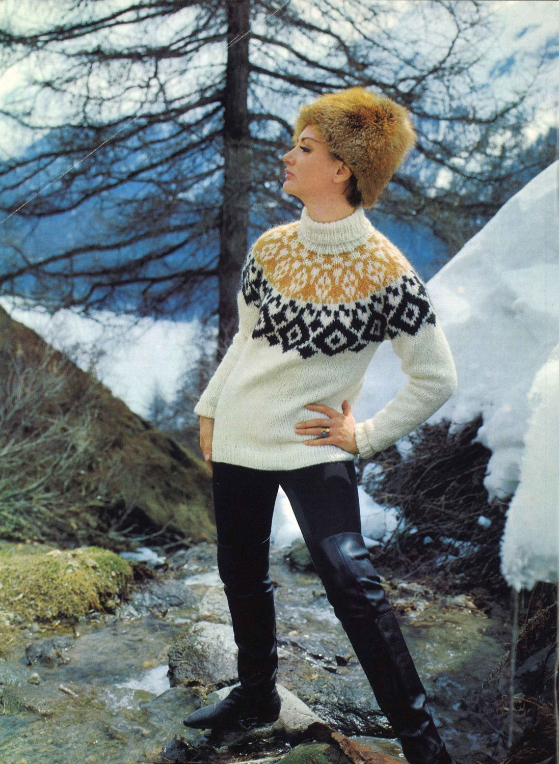 c4786a928e471 His   Hers Ski Sweaters • 1960s Pullover Patterns • Vintage Fair Isle Jumper  Knitting Pattern • Retro Knit PDF by TheStarShop on Etsy