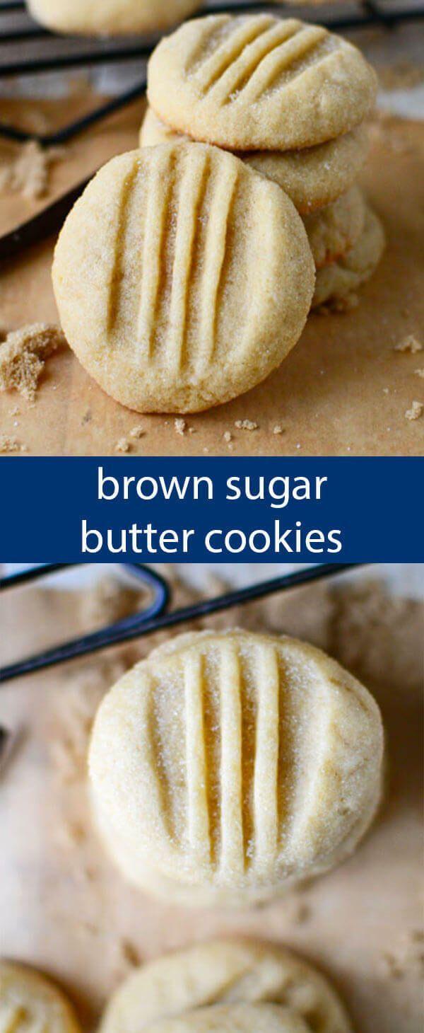Brown Sugar Butter Cookies Easy Simple Sugar Cookie Recipe -