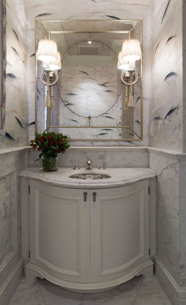 Marbre Blanc Pour Une Salle De Bain Design Glamour