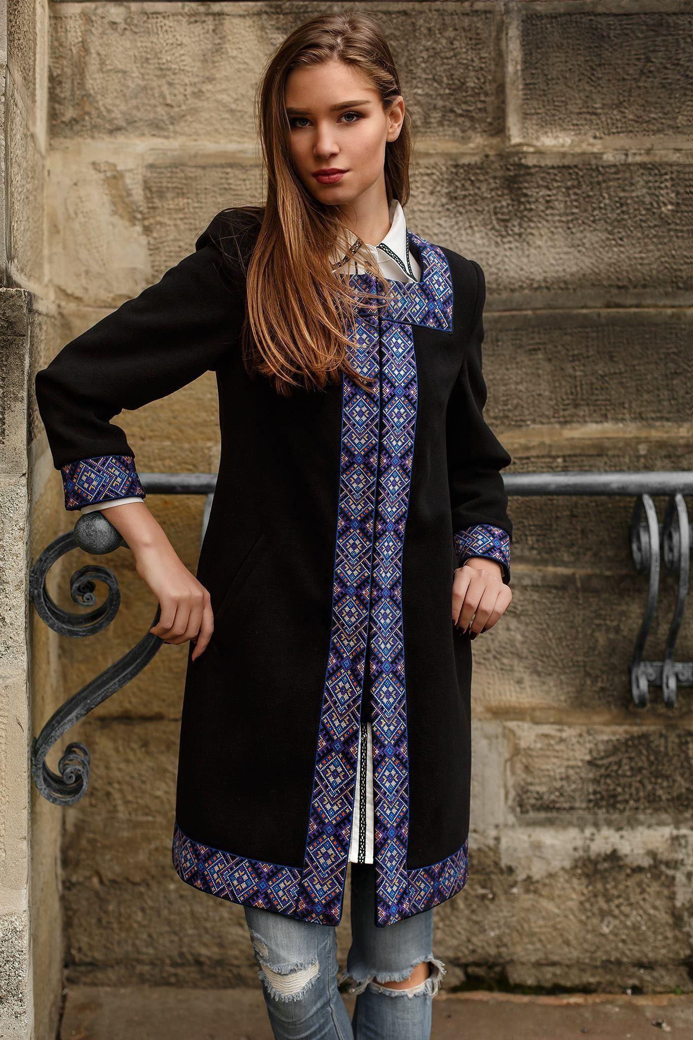 Ukrainian  Style  Spirit of  Ukraine Пальто з вишивкою та мережкою    a82282250c86a