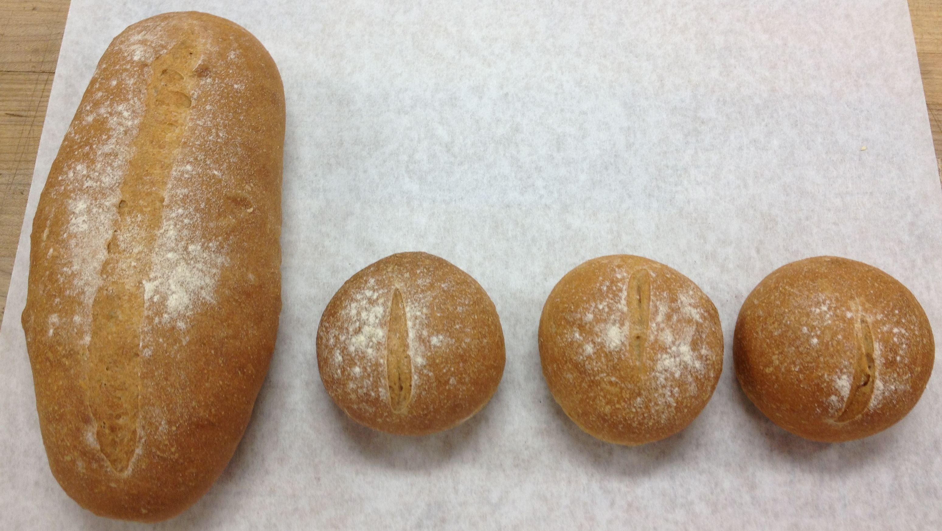 Wheat Batard and Rolls