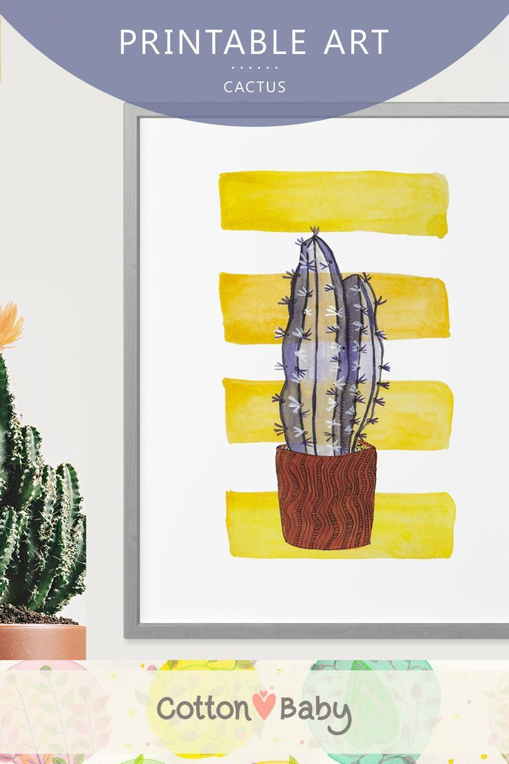 Cactus Printable Nursery Art | Printable Art | Digital Download ...