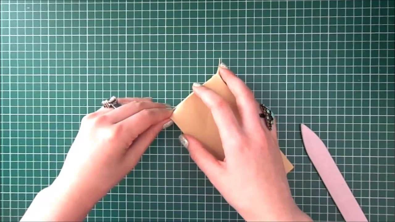 como hacer una bolsa de papel bien practico