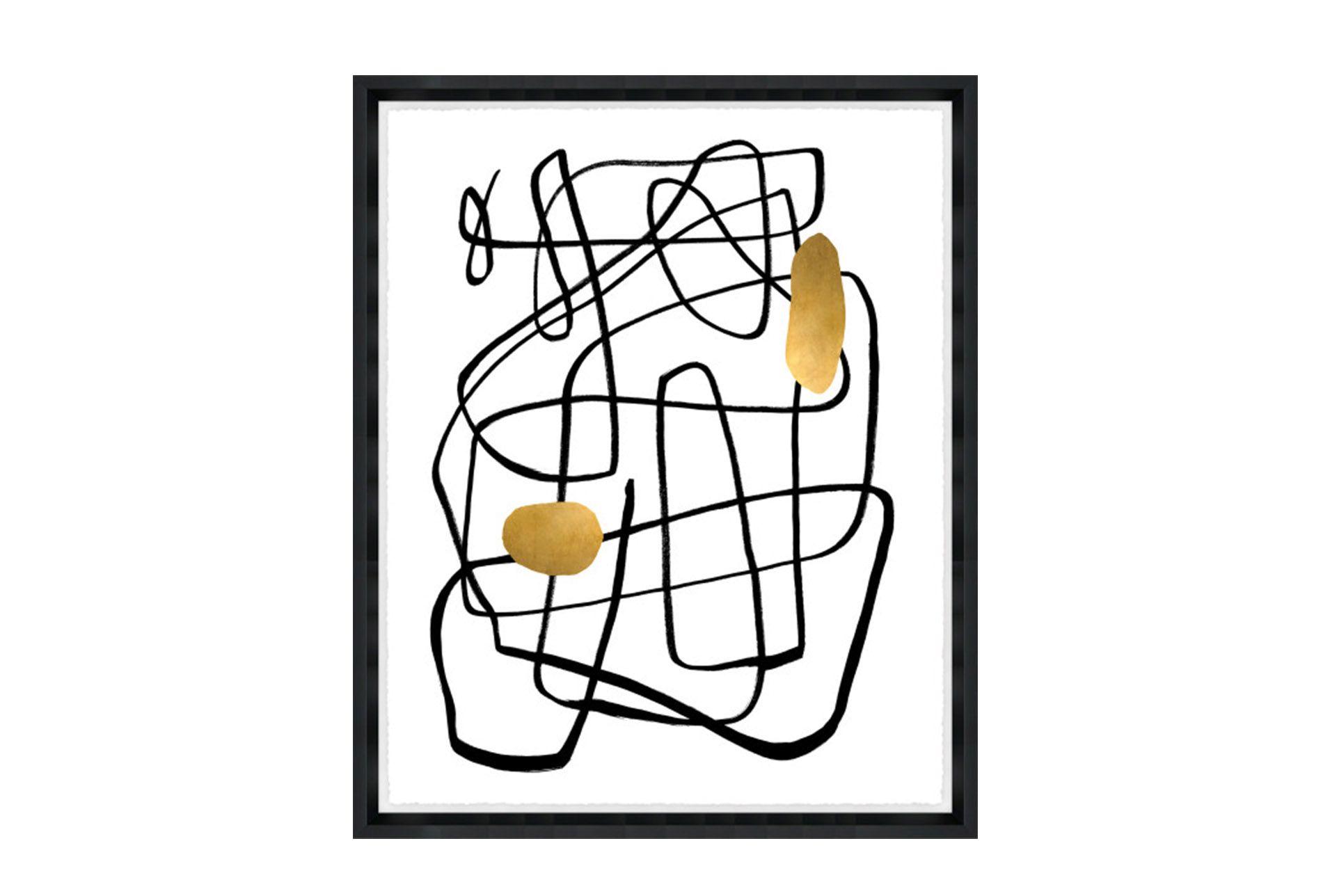 Picture 24x30 Golden Drop Ii Glass Framed Glass Frames Framed Canvas Art Glass