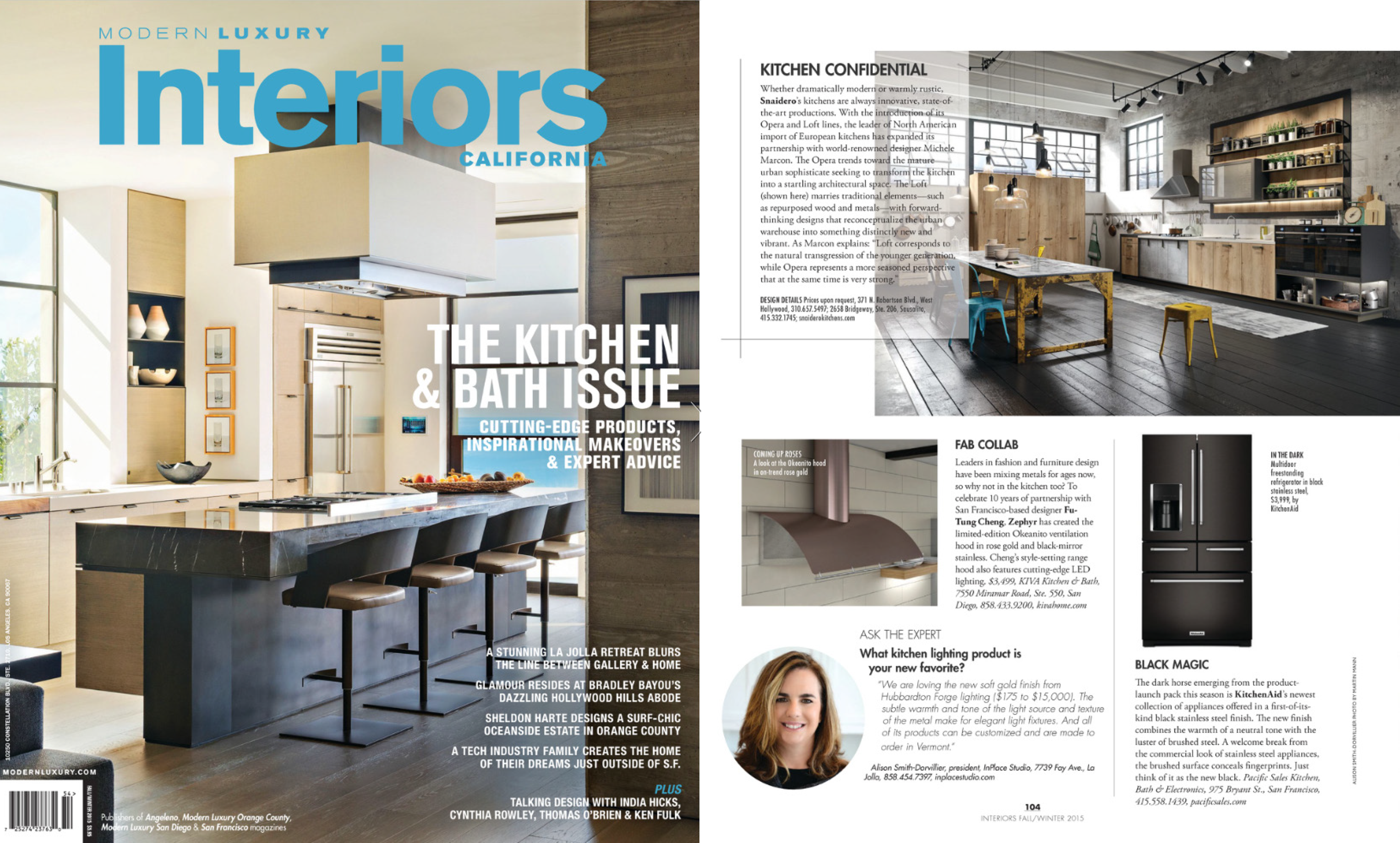 2015 Modern Luxury INTERIORS CALIFORNIA | The kitchen and bath issue ...
