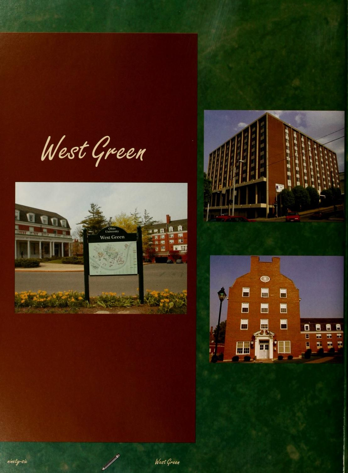 "Athena Yearbook, 2006. ""Six of the Eight West Green halls were built in the 1960's."" :: Ohio University Archives"