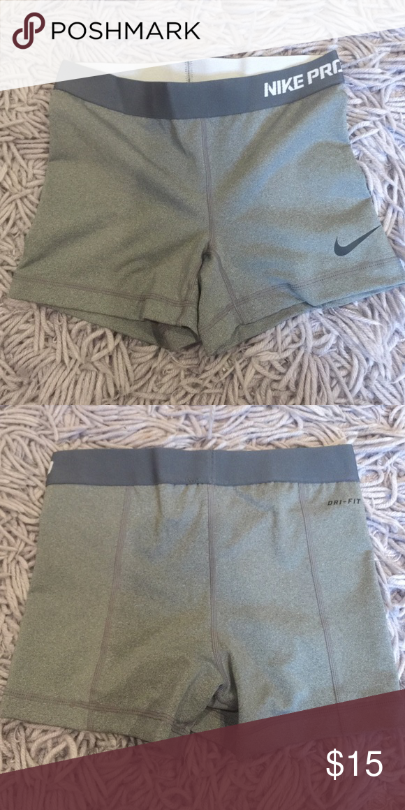 Women's Nike Pro Shorts Size Small Worn a few times, still in perfect condition. These shorts are great for a daily workout. Nike Dri-FIT will help keep you dry and comfortable. Stretch waist for support and slimmer look. Will feel natural, move with you smoothly, and has a locked-in feel. Nike Shorts