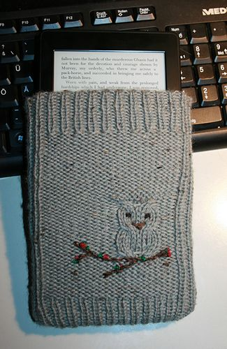 Wise Owl Kindle Cover Free Knitting Pattern Knit Pinterest