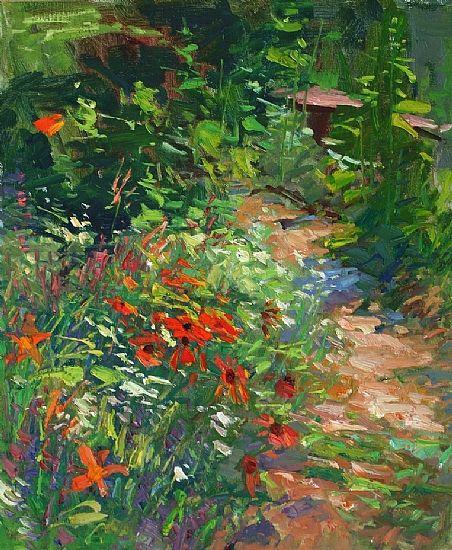 Garden Art Plus: Garden In Bloom Oil 24 X 20