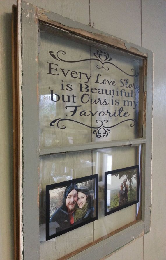Vintage Window Single Pane Personalized by VaughnCustomCreation