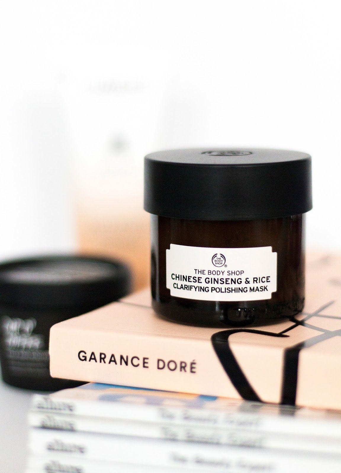A few favourite face masks the body shop face cleanser