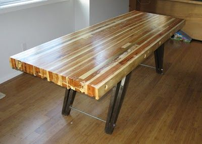 Table made from 2x4 and 1x4 wood scraps rustic for Dining room table 2x4