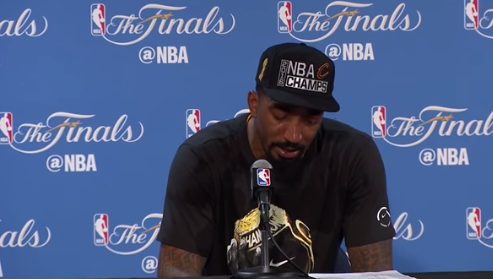 J.R. Smith Breaks Down During Postgame Press Conference