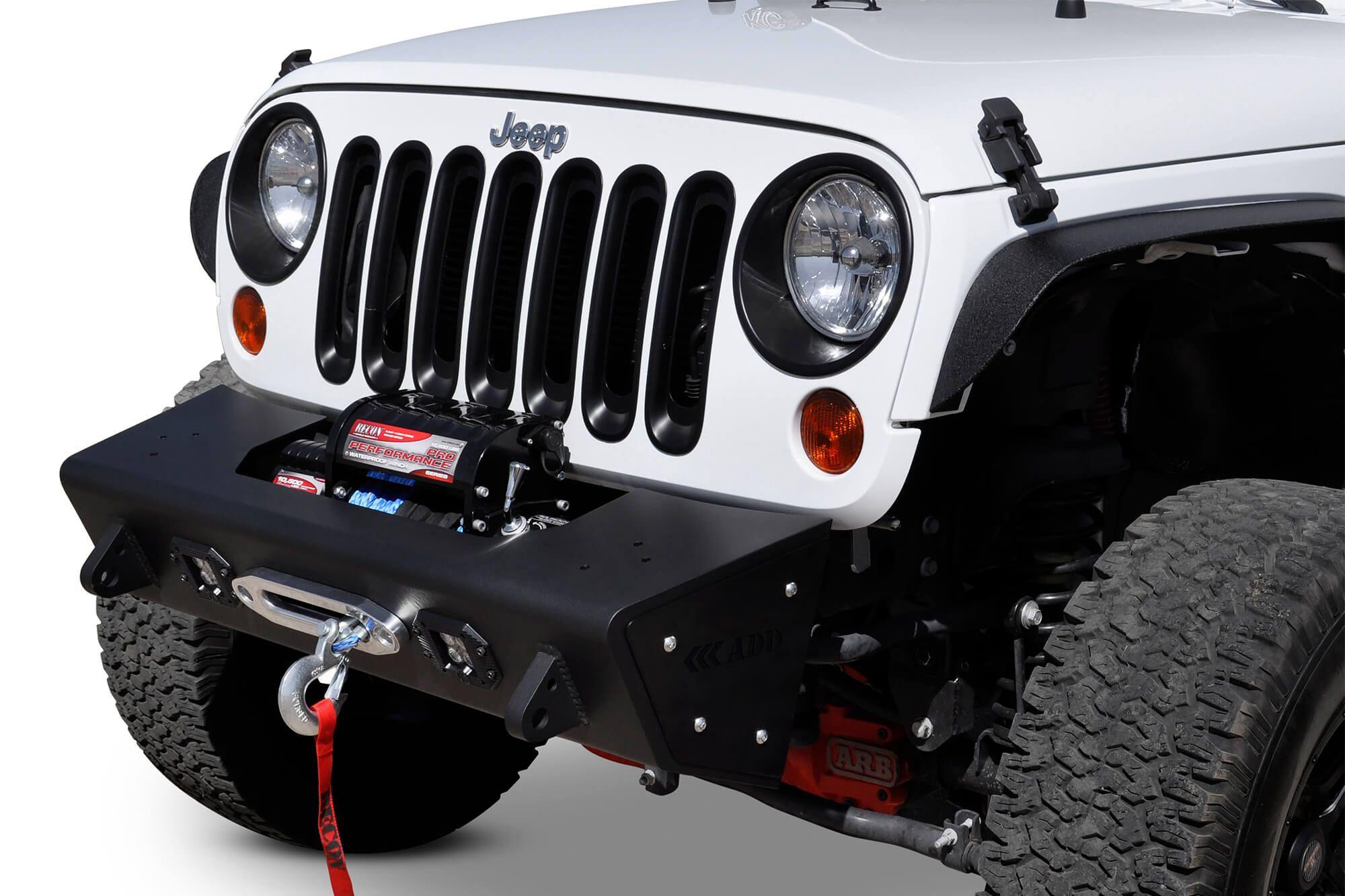 Jeep Jk Stealth Fighter Front Bumper Add Offroad Jeep Jk Jeep Wrangler Front Bumper Jeep