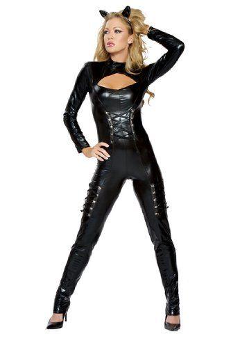 Sexy Adult Womens Halloween Costumes Black Feline Kitty Cat  sc 1 st  Pinterest & Sexy Adult Womens Halloween Costumes Black Feline Kitty Cat   ME ...