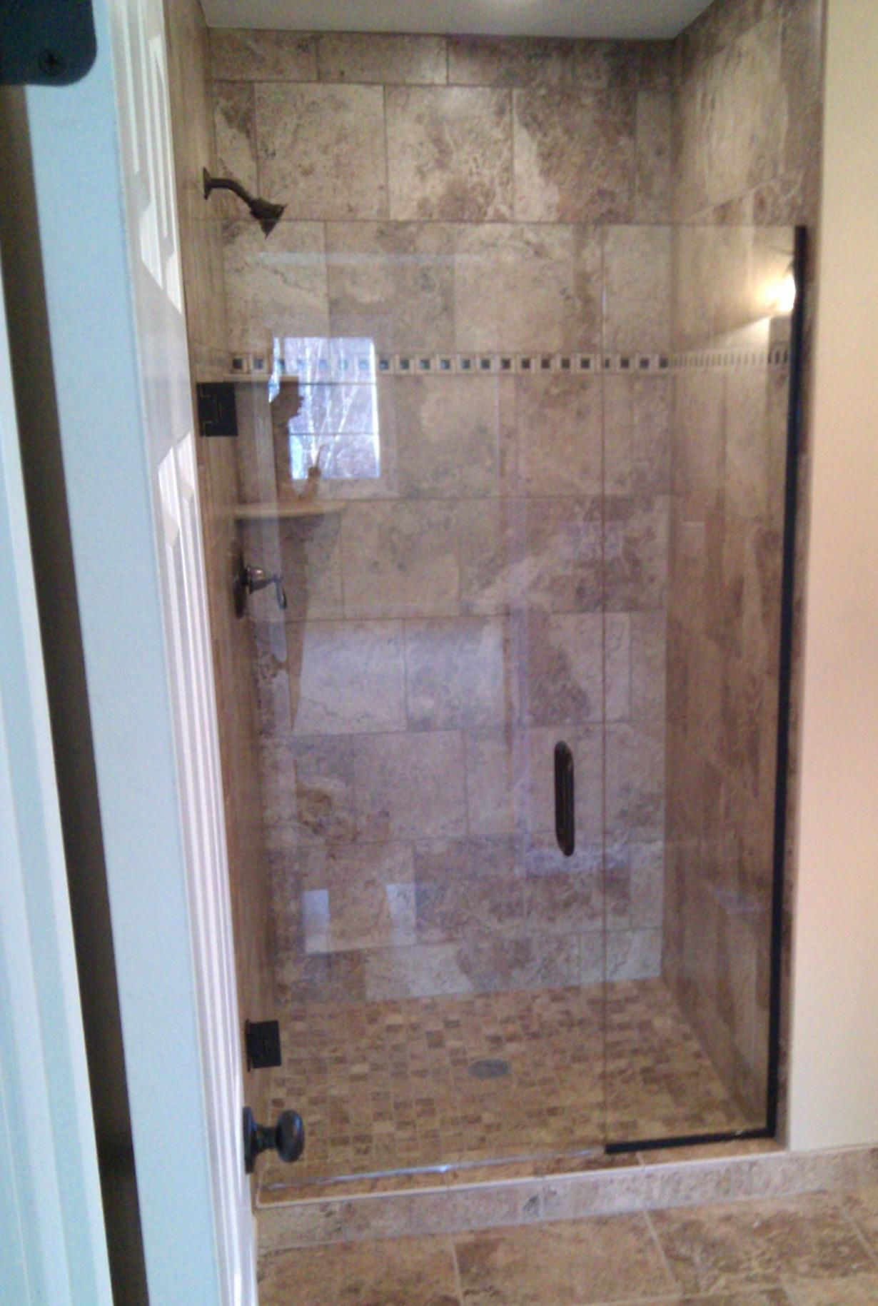 Image Result For Oil Rubbed Bronze Frameless Shower Door