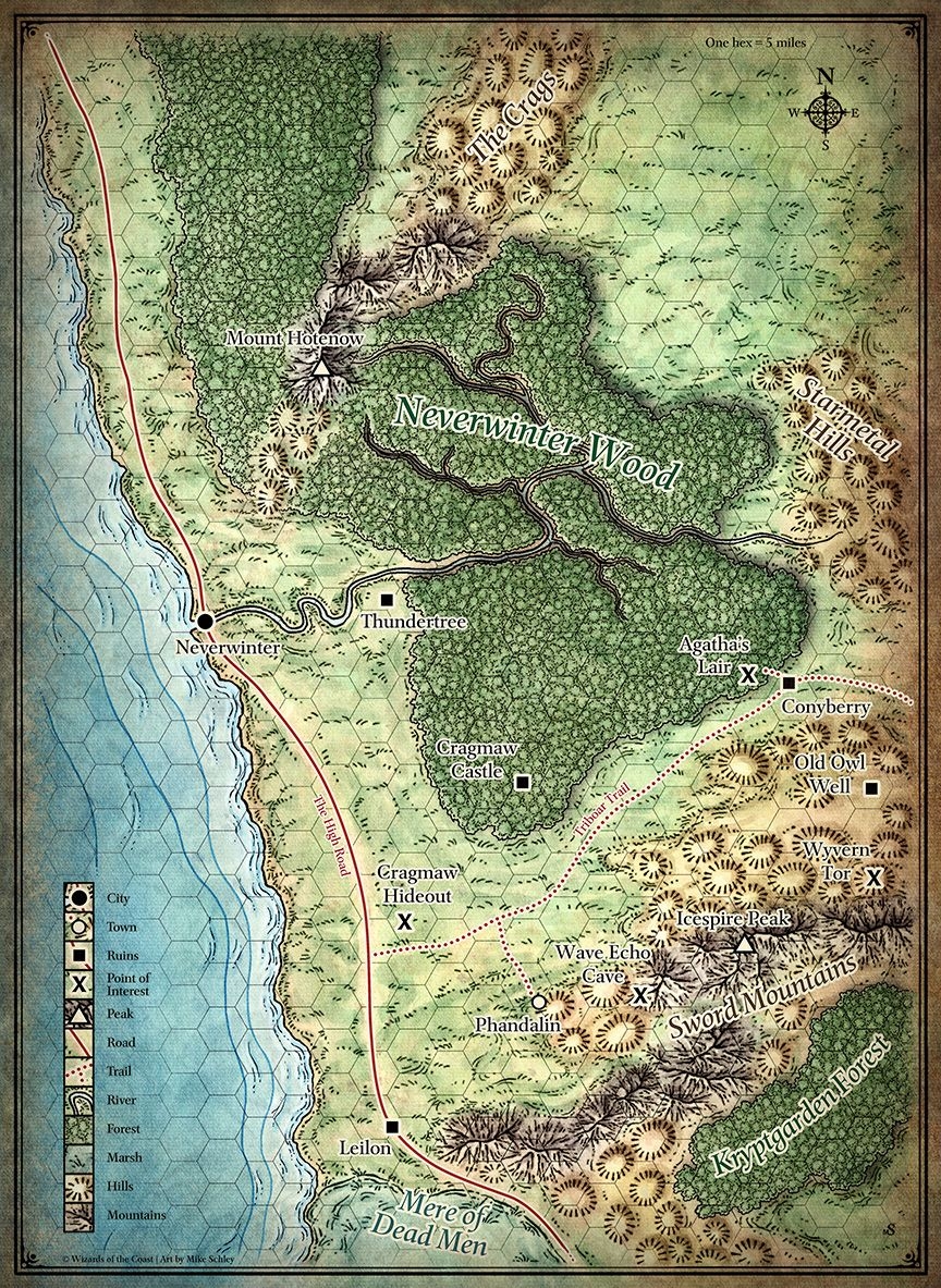 north sword coast map d d maps regions pinterest fantasy