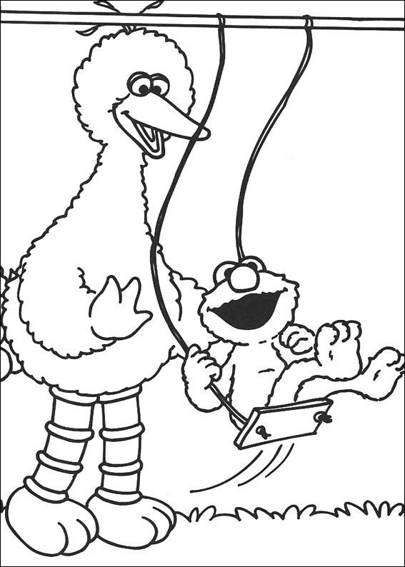 Big Bird And Elmo Sesame Street Coloring Pages Bird Coloring Pages Elmo Coloring Pages