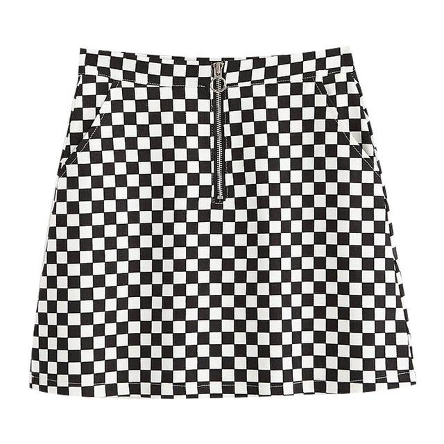 Black   White Checkered Skater Skirt – Coquetry Clothing. Daphne Checkerboard  Mini Skirt bab0c7751