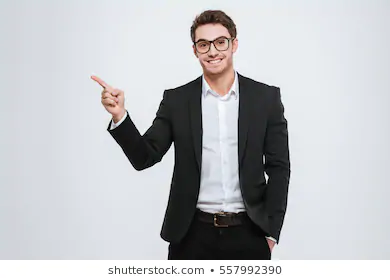 Business Man Pointing Space Stock Image Download Now Professional Image Asian Men Photo Editing