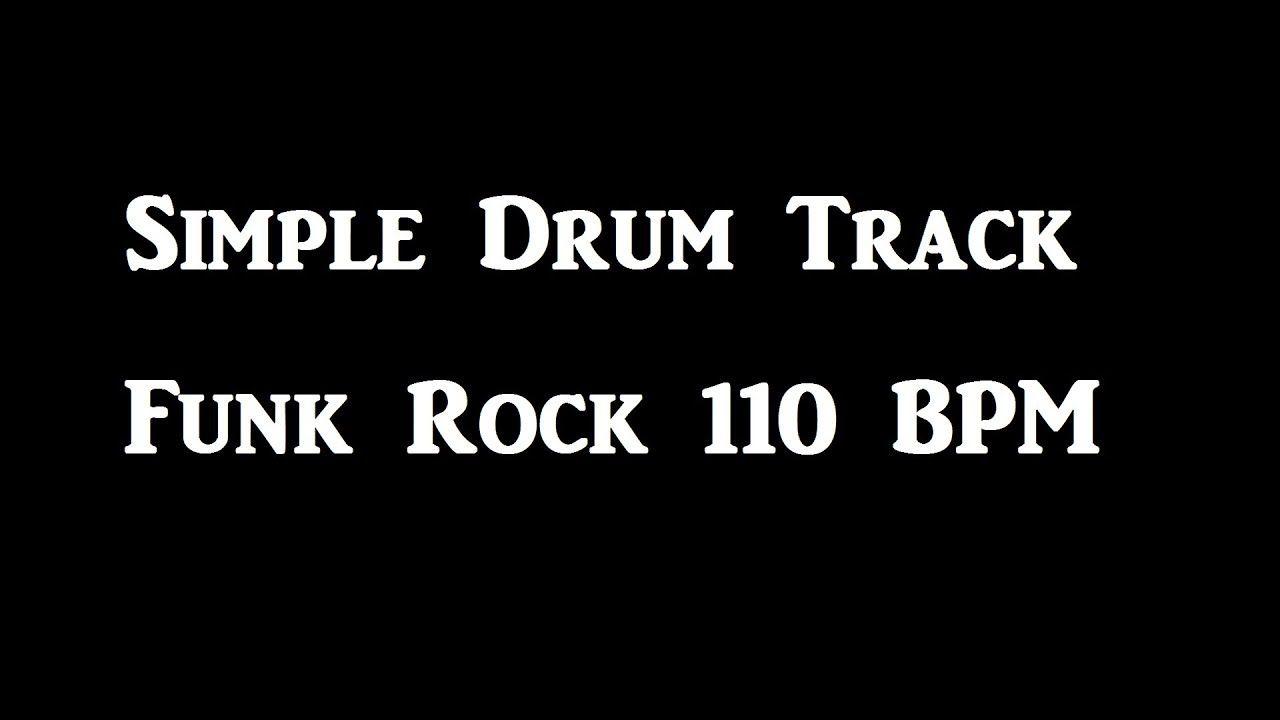 Simple Funk Rock Drum Beat 110 BPM Bass Guitar Backing