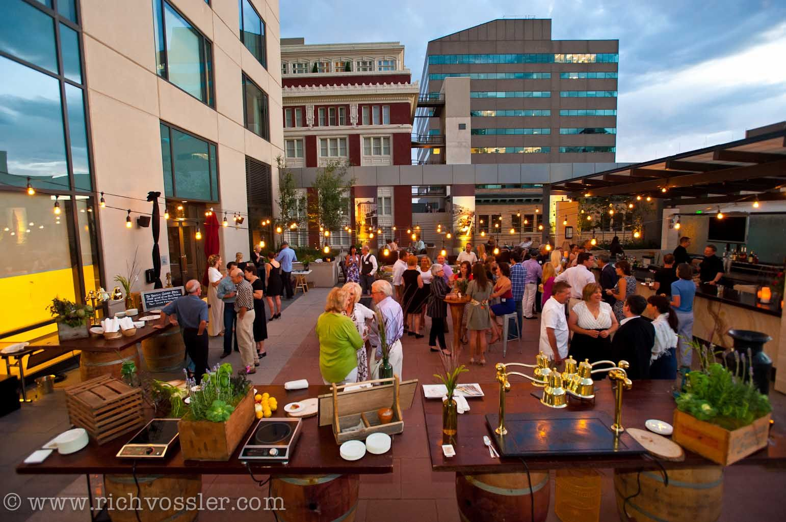 Socializing At An Event On Our Outdoor Rooftop Terrace