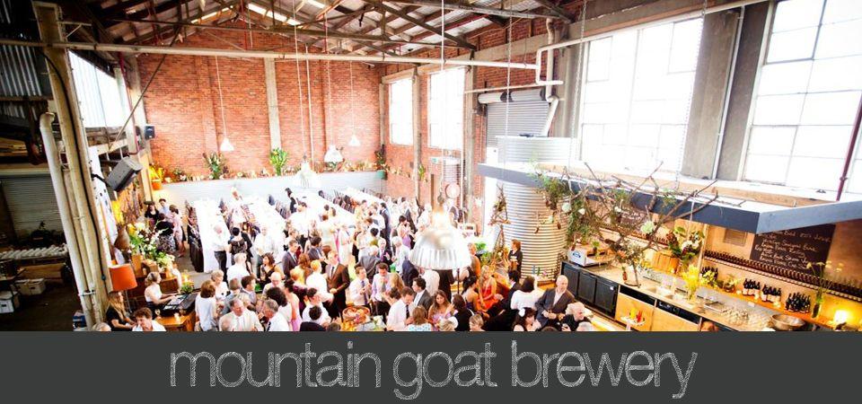Mountain Goat Brewery wedding venue Ed Dixon Food Design