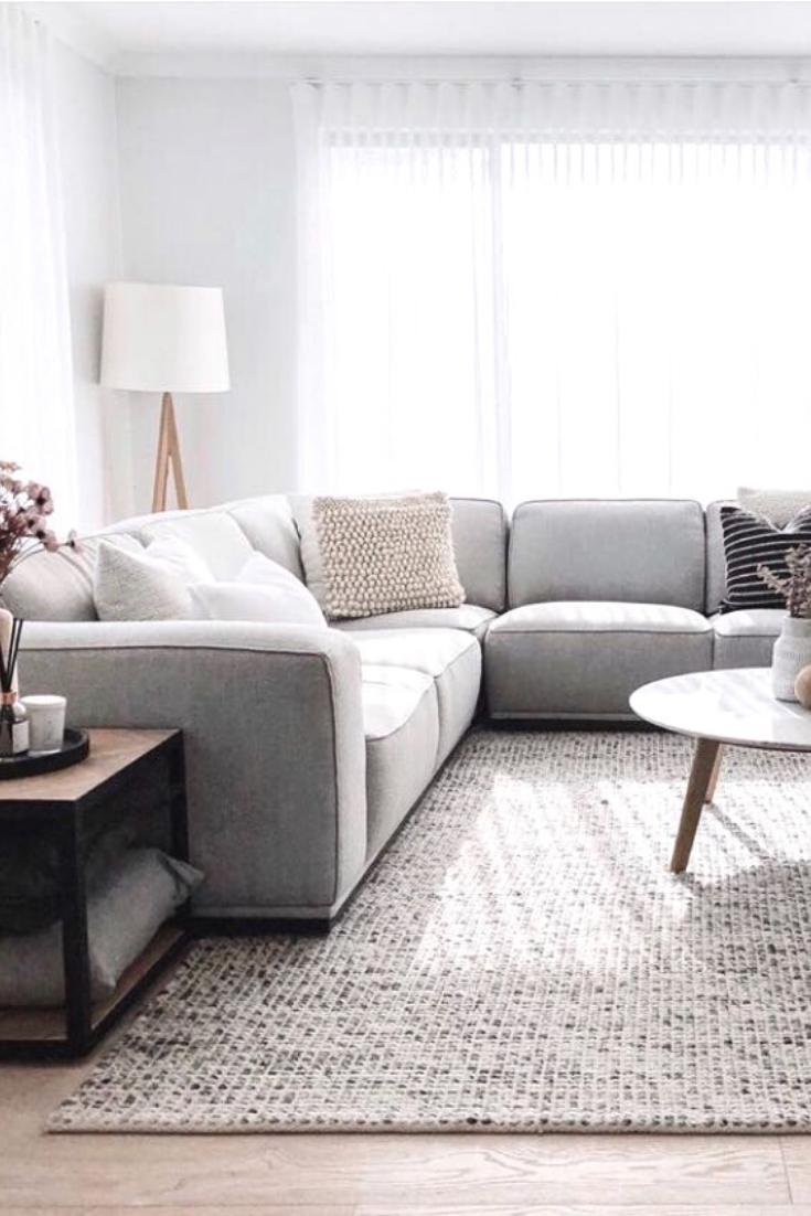 Grey Scandinavian Felted Wool Rug In 2020 Rugs In Living Room Living Room Grey Living Room Designs