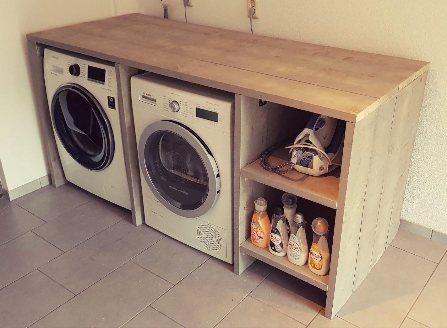 Diy steigerhouten wasmachine ombouw huis inspiratie in
