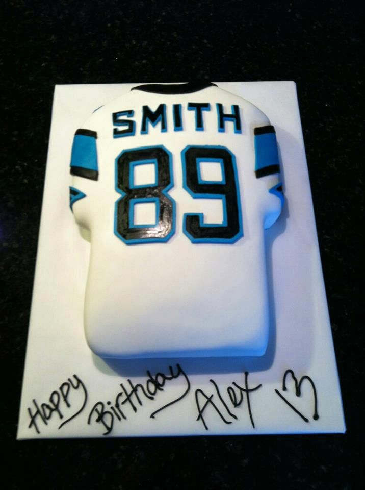 buy online 26511 73c94 North Carolina panthers jersey cake by Cup or Cakes on ...