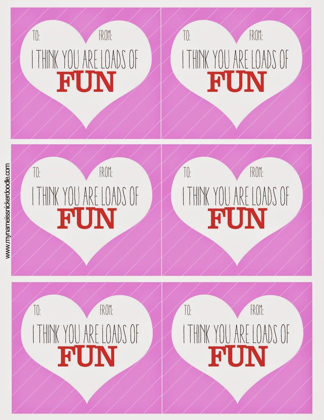 Super Fun Free Valentine S Printable