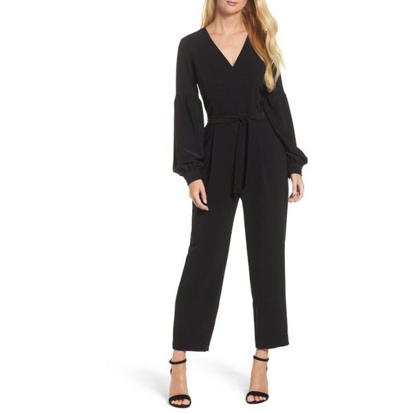 770e1142fbd9 Women s Maggy London Crepe Jumpsuit (45 KWD) ❤ liked on Polyvore featuring  jumpsuits