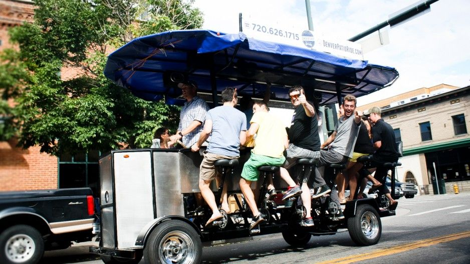See images and videos of actual Denver tours with Denver Patio Ride. Experience the fun in our exciting Denver moving bicycle bar.